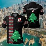 Lebanon - United All Over Print Polo Shirt