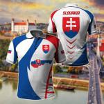 Slovakia Apparel All Over Print Polo Shirt