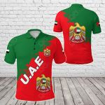 United Arab Emirates Smudge Version All Over Print Polo Shirt