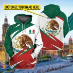 Customize Mexico Coat Of Arrms Style All Over Print Shirts