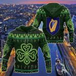 Ireland Christmas All Over Print Hoodies