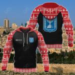 Customize Israel Christmas All Over Print Hoodies