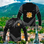 Customize Andorra Coat Of Arms New Design - Black & Gray All Over Print Hoodies