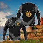 Customize Armenia Coat Of Arms New Design - Black & Gray All Over Print Hoodies
