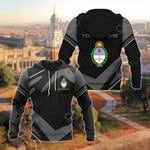 Customize Argentina Coat Of Arms New Design - Black & Gray All Over Print Hoodies
