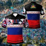 Haiti Youthful Style All Over Print Polo Shirt