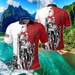 Hawaii King Polynesian Sonic Style All Over Print Polo Shirt