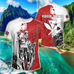 Customize Hawaii King Polynesian Sonic Style All Over Print T-shirt