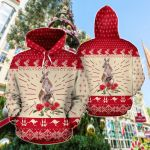 Australia Christmas Kangaroo Hoodie Waratah Flowers All Over Print Hoodies