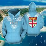 Fiji Flag Color Sailor Style All Over Print Hoodies