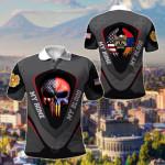 America My Home Armenia My Blood Skull - Eagle All Over Print Polo Shirt
