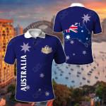 Australia Flag Style All Over Print Polo Shirt