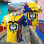 Colombia Style All Over Print Polo Shirt