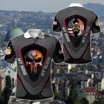America My Home Serbia My Blood Skull - Eagle All Over Print Polo Shirt