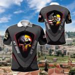 America My Home Uganda My Blood Skull - Eagle All Over Print Polo Shirt