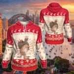 Kangaroo Australian Christmas All Over Print Hoodies