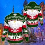 Polish Christmas Green All Over Print Hoodies