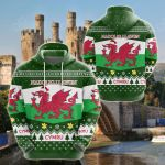 Wales Christmas All Over Print Hoodies