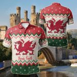 Customize Wales Celtic Christmas - Welsh Cymru Nadolig Llawen All Over Print Polo Shirt