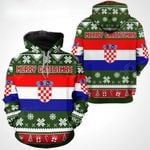 Croatia Christmas All Over Print Hoodies