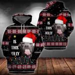 Pitbull Christmas All Over Print Hoodies
