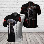The Devil Thought He'd Won Until I Said Amen All Over Print Polo Shirt
