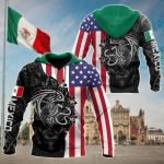 America - Mexico Aztec All Over Print Shirts