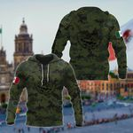 Customize Mexico Coat Of Arms Black - Camo All Over Print Hoodies