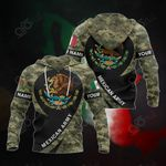 Customize Mexico Coat Of Arms - Mexican Army All Over Print Hoodies