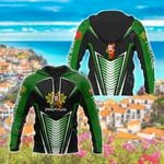 Customize Portugal Coat Of Arms And Map All Over Print Hoodies