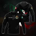 Customize Mexico Coat Of Arms And Map - Black Hoodies