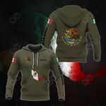 Customize Mexico Coat Of Arms Flag Map Hoodies