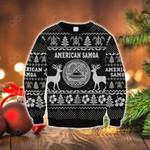 American Samoa Polynesian Christmas - Ugly Christmas Style Black Sweatshirt
