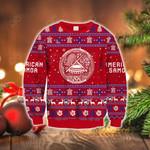 American Samoa Polynesian Christmas - Ugly Christmas Style Red Sweatshirt