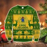 Cook Islands Polynesian Christmas - Ugly Christmas Style Green Sweatshirt