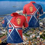 Norway Legend All Over Print Polo Shirt