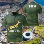 South Africa Springboks Bokke Rugby All Over Print Polo Shirt
