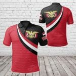 Yemen Coat Of Arms And Flag Color All Over Print Polo Shirt