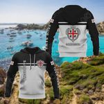 Customize Sardinia Coat Of Arms And Flag - Black And White All Over Print Hoodies