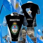 Argentina Proud Of My Country All Over Print Polo Shirt