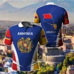 Armenia Proud Of My Country All Over Print Polo Shirt