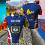Colombia Proud Of My Country All Over Print Polo Shirt