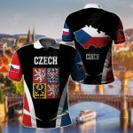 Czech Republic Proud Of My Country All Over Print Polo Shirt