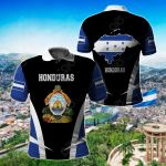 Honduras Proud Of My Country All Over Print Polo Shirt
