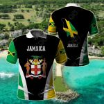 Jamaica Proud Of My Country All Over Print Polo Shirt