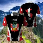 Peru Proud Of My Country All Over Print Polo Shirt