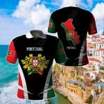 Portugal Proud Of My Country All Over Print Polo Shirt