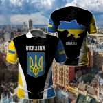 Ukraina Proud Of My Country All Over Print Polo Shirt