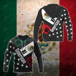 American - Mexican Black All Over Print Hoodies