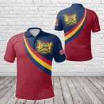 Chad Coat Of Arms And Flag Color All Over Print Polo Shirt